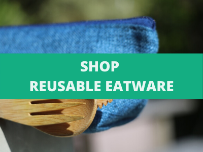 Shop reusable eatware over the image of a bamboo cutlery set